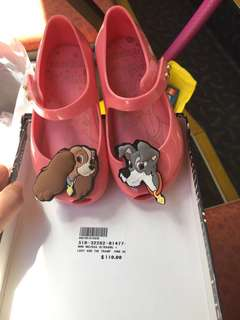 Mini Melissa Shoes size 7 lady and tramp