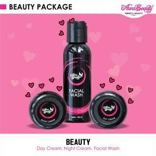 AURA BEAUTY Paket Cream Beauty Krim Pemutih dan Pencerah Wajah berBPOM Aman Digunakan Bumil dan Busui