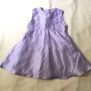 Charity Sale! Authentic Premiere Collection Baby Girl Dress Size 2 Lavender Gown