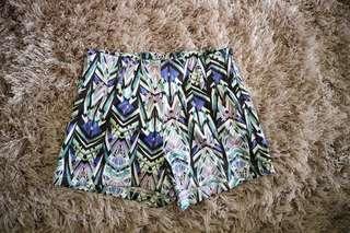 High waist printed shorts