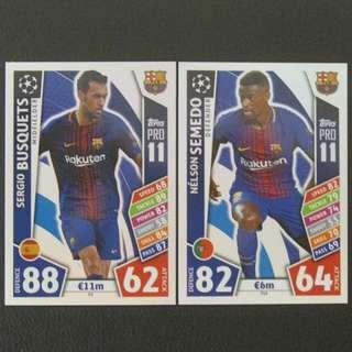 最新 17/18 歐聯 Match Attax Champions PRO11 #Barcelona 巴塞羅拿