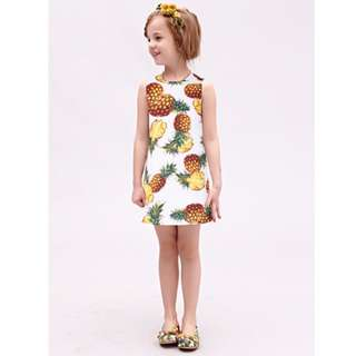 A-Line Printed Dress for Kids