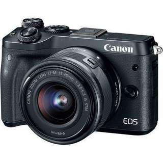 CANON EOS M6 (BLACK) WITH 15-45MM LENS + BAG