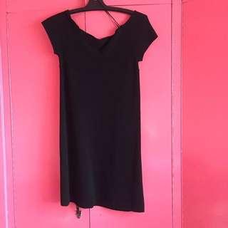 Zara off shoulder black dress