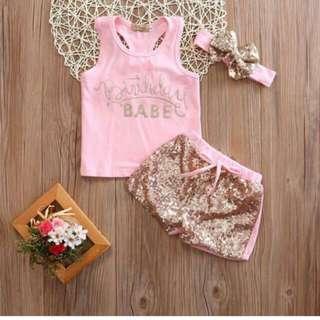 BIRTHDAY BABE CLOTHING SET
