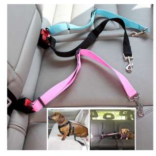 Animal Dog Pet Car Safety Seat Belt Harness Restraint Lead Leash Travel Clip Dogs Supplies Accessories for Travel Seat Belts Color Black Blue Pink Red