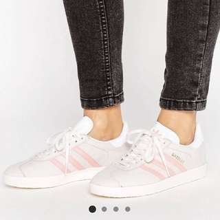 BN Adidas Pastel Grey and Pink Gazelle Trainers