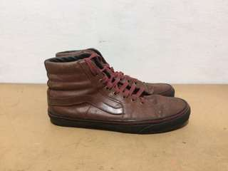 Vans Sk8 Hi leather brown