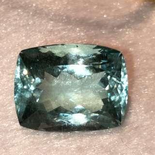 3月誕生石 13.96克拉 天然海水藍寶石(附鑑定證書)