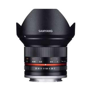 Samyang 12mm f2 NCS CS Lens (Canon EOS M, Fujifilm X, M4/3, and Sony E Mount)