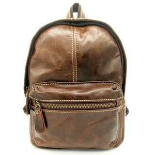 The Ninja Co. Backpack Top Grain Leather Shoulder Sling Back School Bag Handbag Business Corporate Gifts Men Women Birthday NB 8803