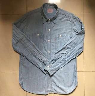 Levis Red Denim Shirt Red Line LVC 501 66501 5501  Lee Jeans