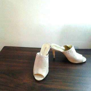 Style & Co. Beige Open Toe Slip on Stilleto