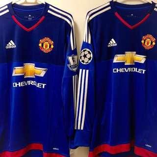 2015-16 曼聯門將第二作客球衣 Manchester United Adizero GK Third Shirt BNWT 全新 DE GEA #1 迪基亞