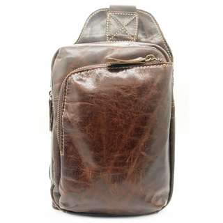 The Ninja Co. Crossbody Bag Top Grain Leather Shoulder Sling Bag Office Work School Handbag Business Corporate Gifts Men Women Birthday NB 8805