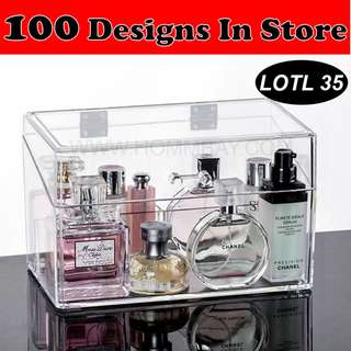 Clear Transparent Acrylic Makeup Make Up Organizers Organisers Clear Transparent Storage Jewellery