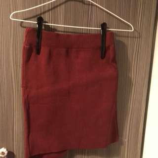 🚚 紅色短裙 全新