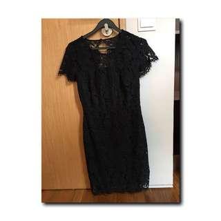 Black Lace Dress Banana Republic