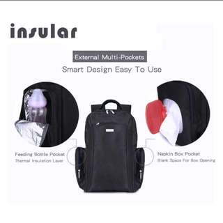 *Last pc* Insular Black Diaper Baby Bag backpack