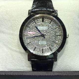 Sandoz 滿天星電子男裝手錶
