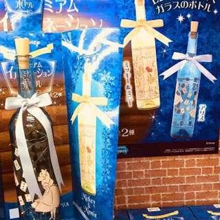 2018日本直送景品 超夢幻迪士尼愛麗絲系列LED玻璃瓶