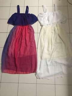 Combo ombré & white dress
