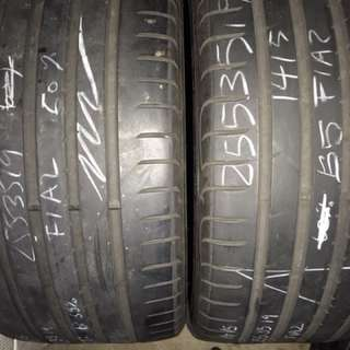255/35/19 goodyear used tyre 2pc available 55% tread$45pc