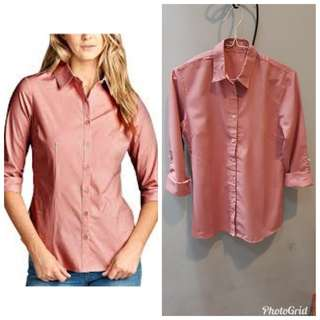 Cotton on dusty pink blouse