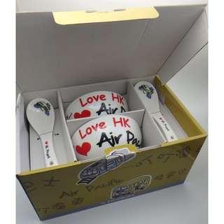 LOVE HK PROJECT by ISHIMURA 陶瓷 Rice Bowl Set -4 PCS w/Box