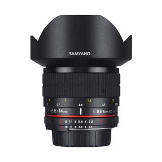 Samyang 14mm f2.8 ED AS IF UMC Lens (Canon, Nikon AE and Sony E Mount) *NEW*
