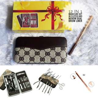 12 in 1 Manicure Set with Clutch