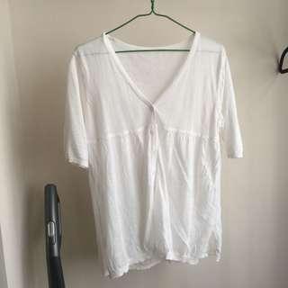 清櫃包郵 女裝 白色小外套 white top jacket
