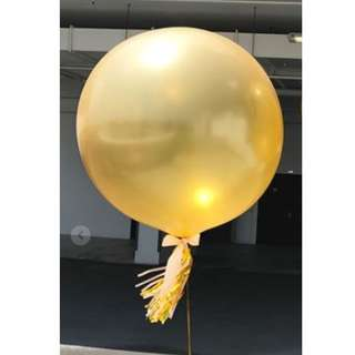 Helium Balloon - 36 Inch Gold Plain Balloon