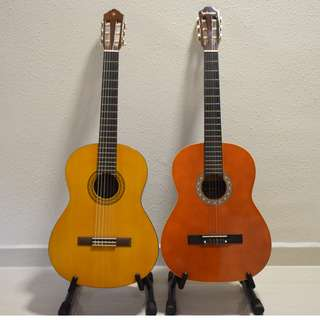 GREAT DEAL TWO CLASSICAL GUITARS FOR JUST 400
