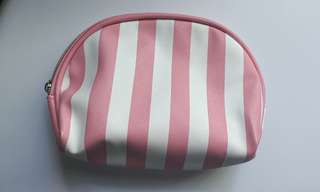 Stripe pink Pouch