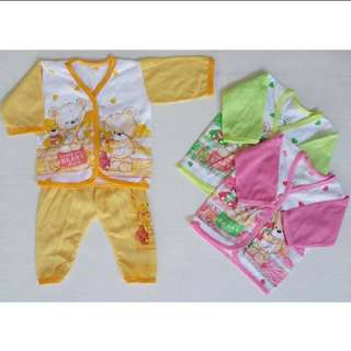 Baju bobo bayi 0-3blnan 2stel cm 18rb