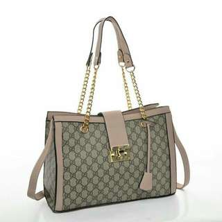 Gucci Shoulder Bag Premium (Pink/Khaki)