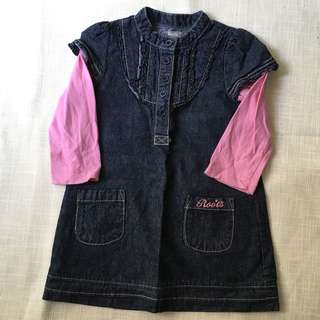 Charity Sale! Authentic Roots Denim Dress quality and integrity Size 2T Girl's