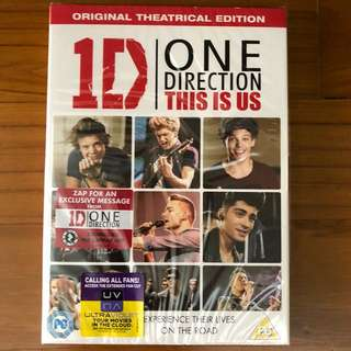 NEW One Direction: This Is Us DVD