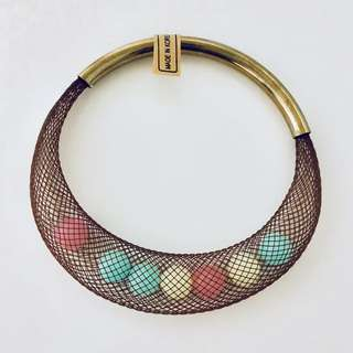 Mesh w Color Beads Bracelet (Big)