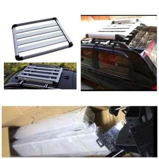 SUV aluminum square luggage rack