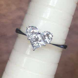 18kt 周生生 lady heart ❤️ diamond ring 💍