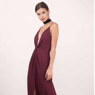 *RENTAL* Tobi Dress Plunge Maxi Open back dress