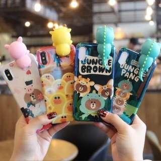 🎉購買兩個以上特價🎉 Iphone case - Line friends (Brown) 電話殼