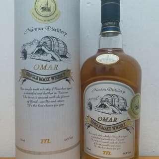 台灣 OMAR 波本花香 單一麥芽 威士忌 whisky 700ml