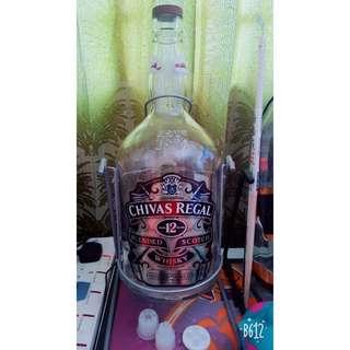 Chivas 4.5 Litre empty bottle
