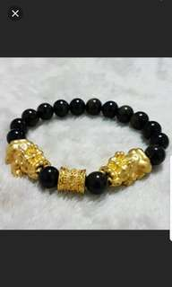 ⚠40%off Bracelet (Gold Sheen Obsidian*金曜石)