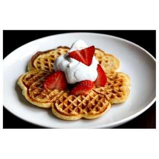 Jual Waffle Egg Pan Cetakan Waffle Kue Roti Bentuk Bulat Bunga