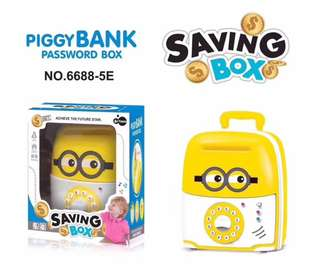 Piggy Bank Password Saving Box