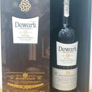 DEWAR,S 18Y whisky 威士忌 750ml